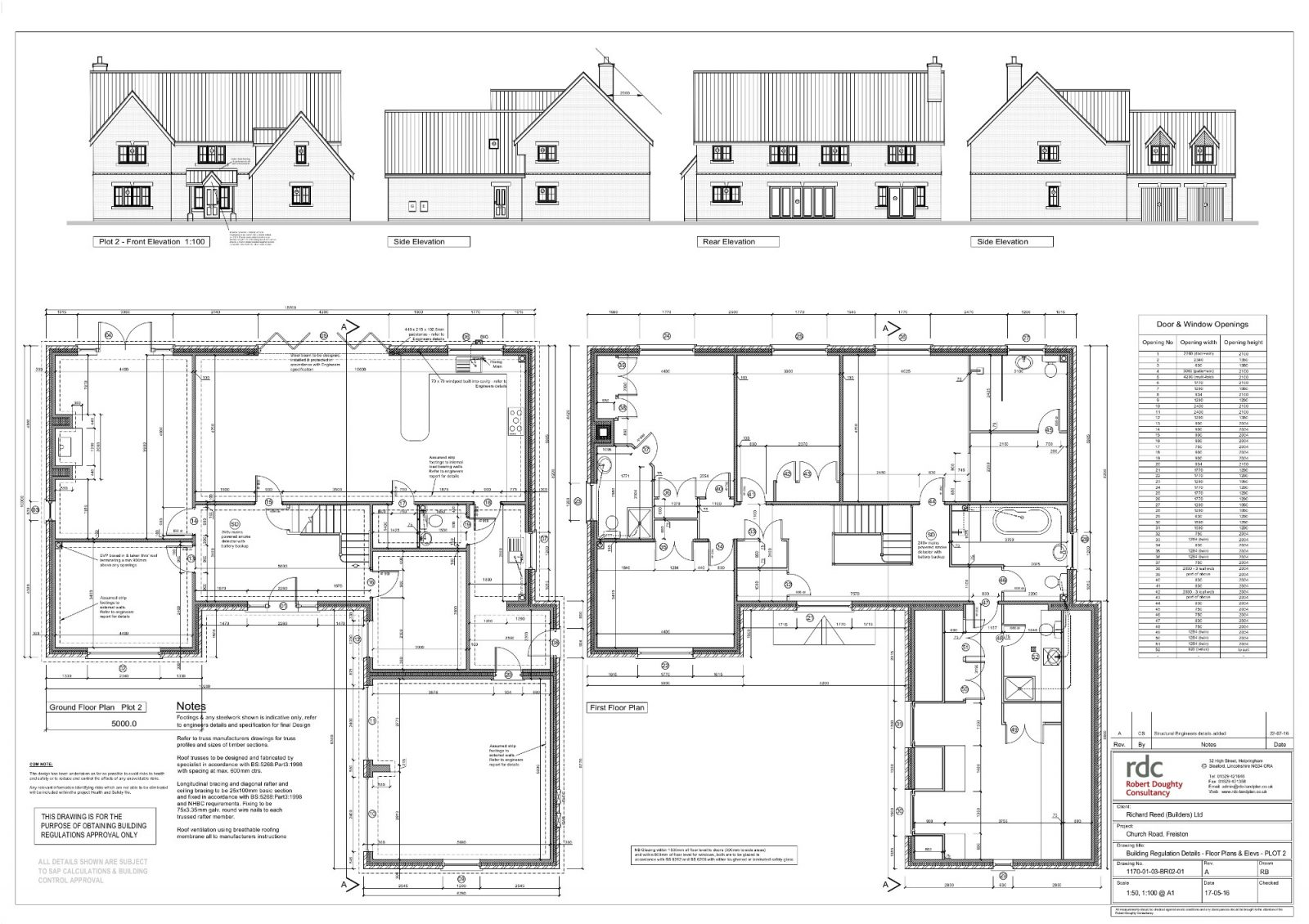 plot 2 floor plans and elavations