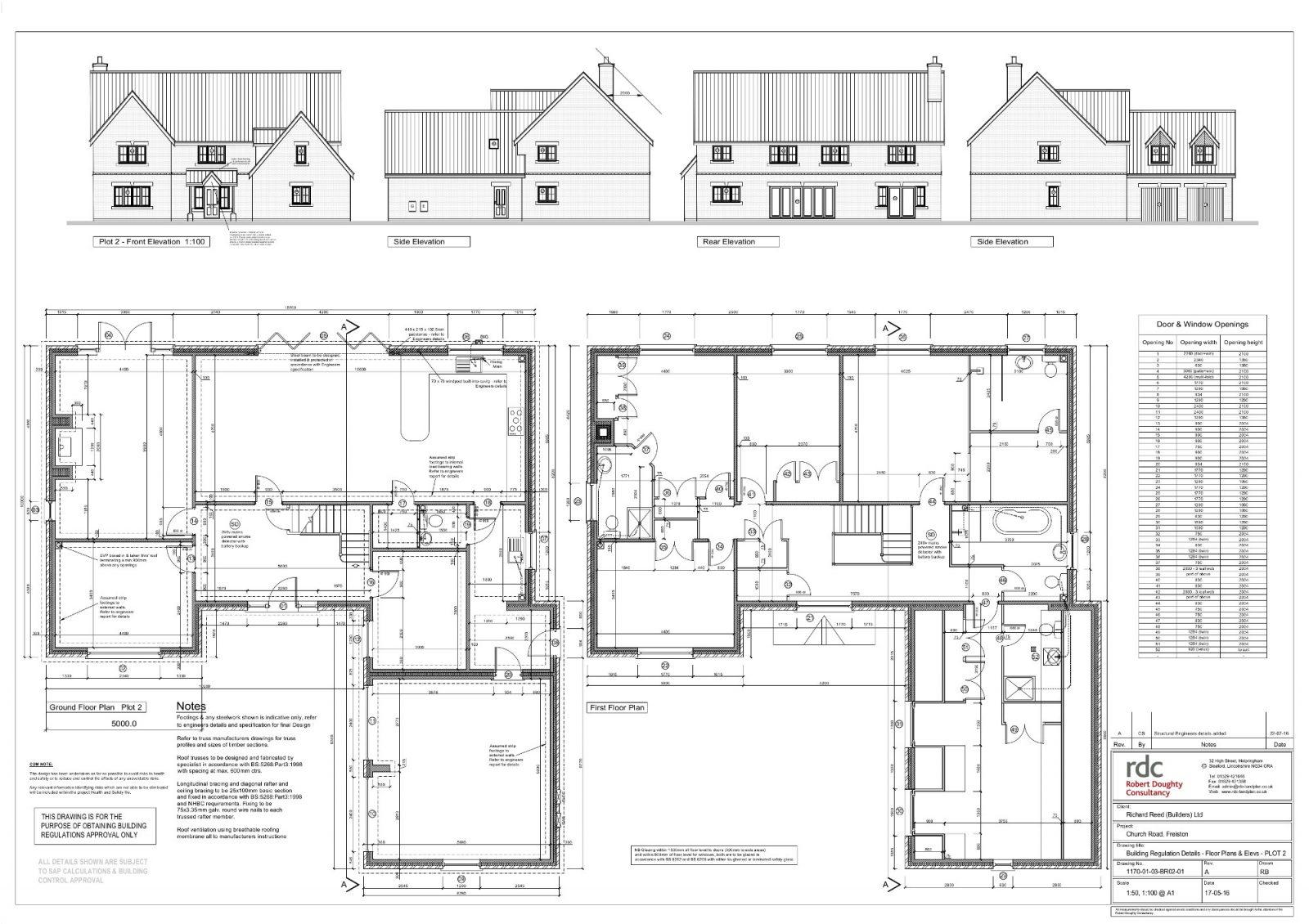 plot 2 floor plans and elavations