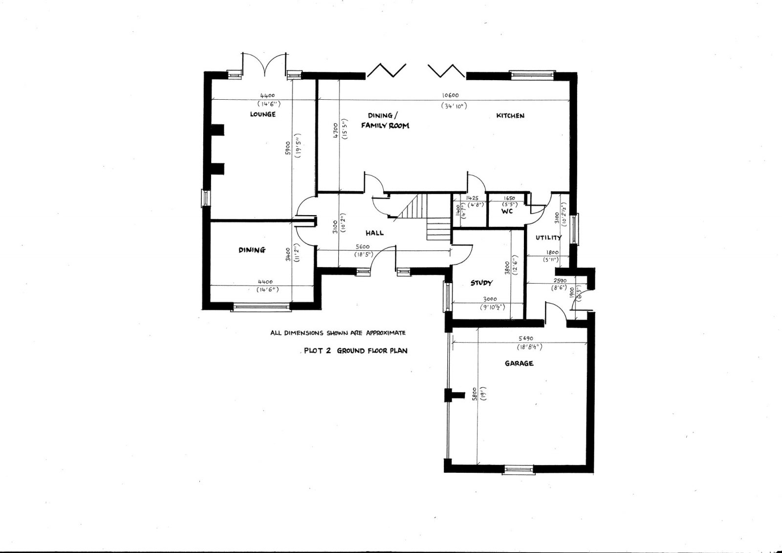 plot 2 side ground floor plan