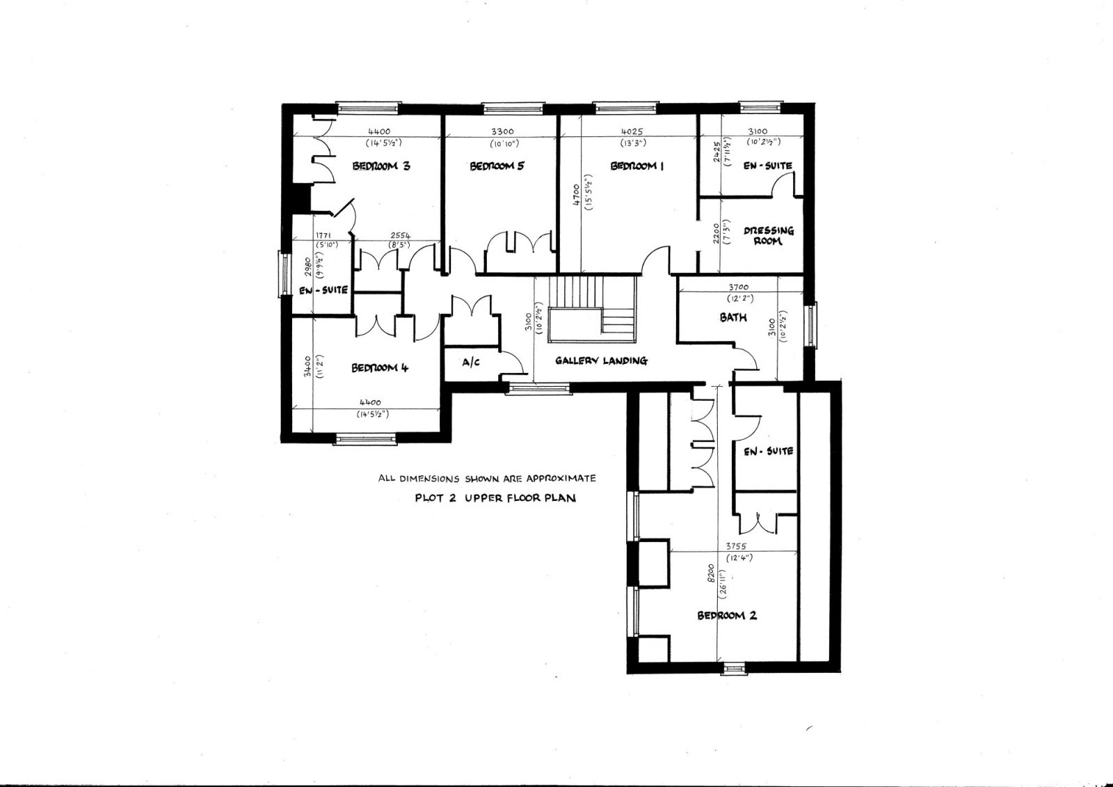 plot 2 upper floor plan 1