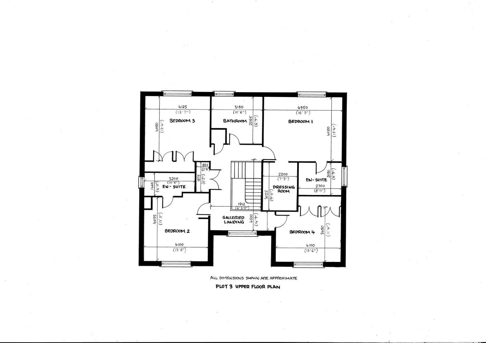 Plot 3 upper floor plan richard reed builders for Find plot plan online