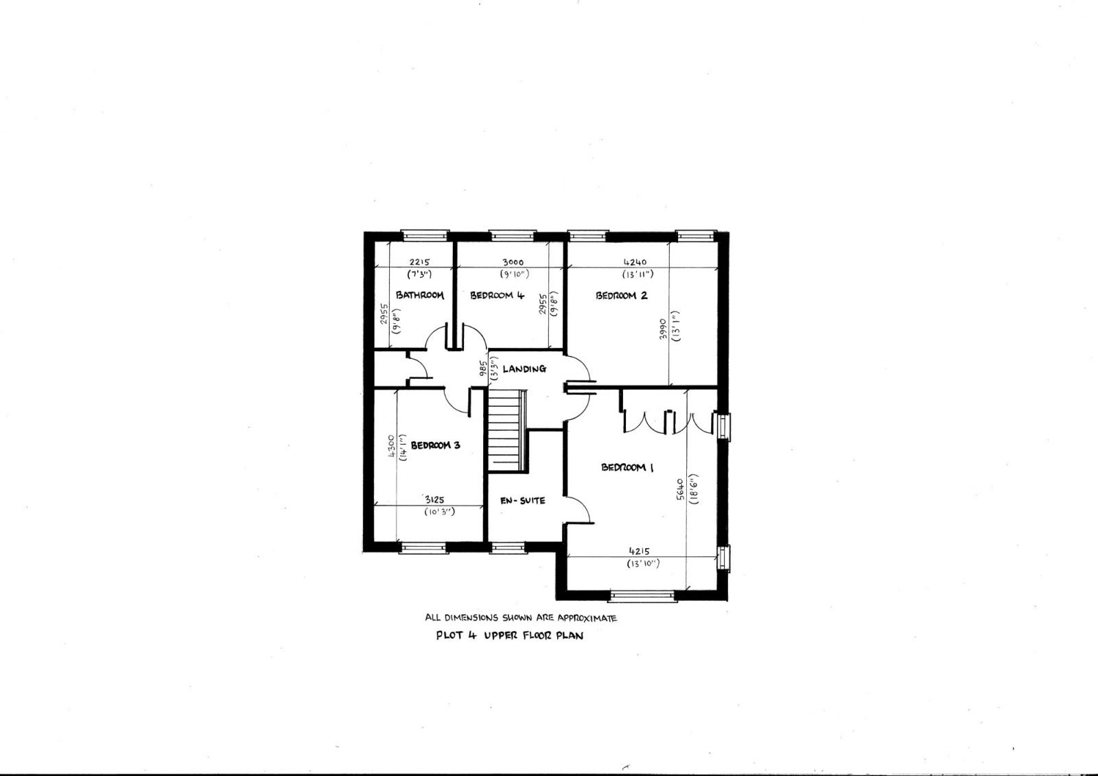 Plot 4 upper floor plan richard reed builders for Find plot plan online