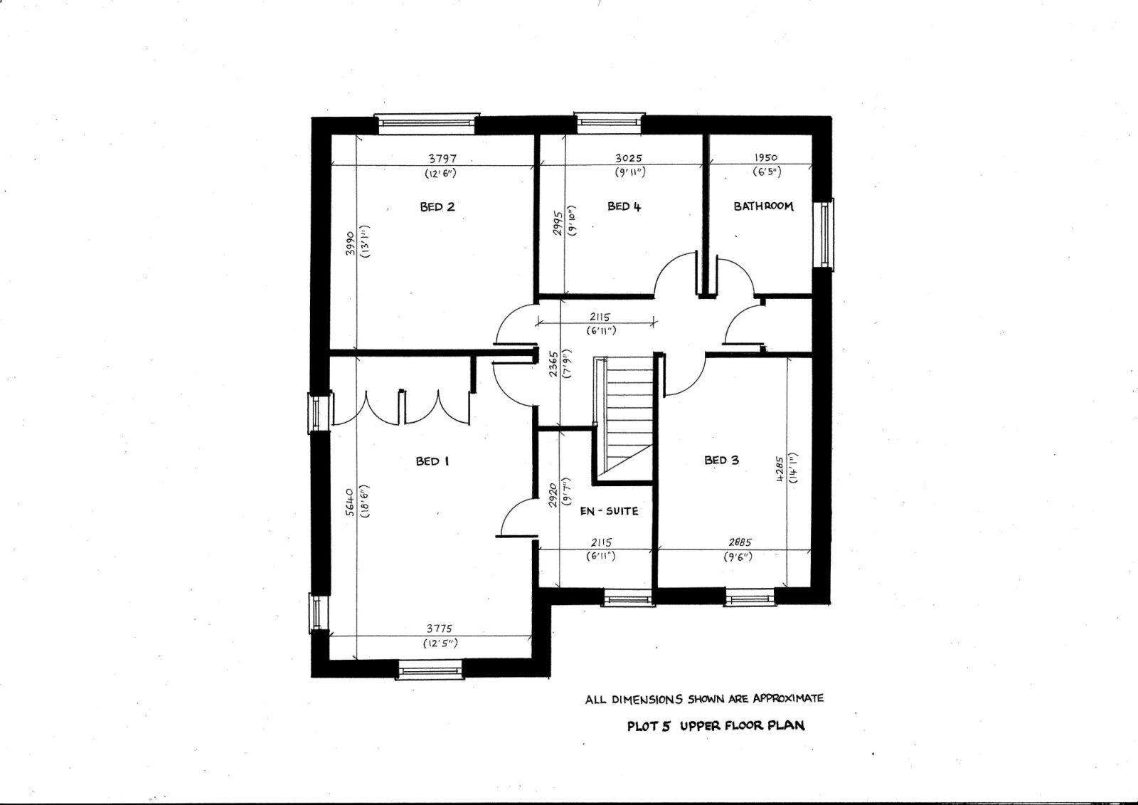 Plot 5 upper floor plan richard reed builders for Find plot plan online