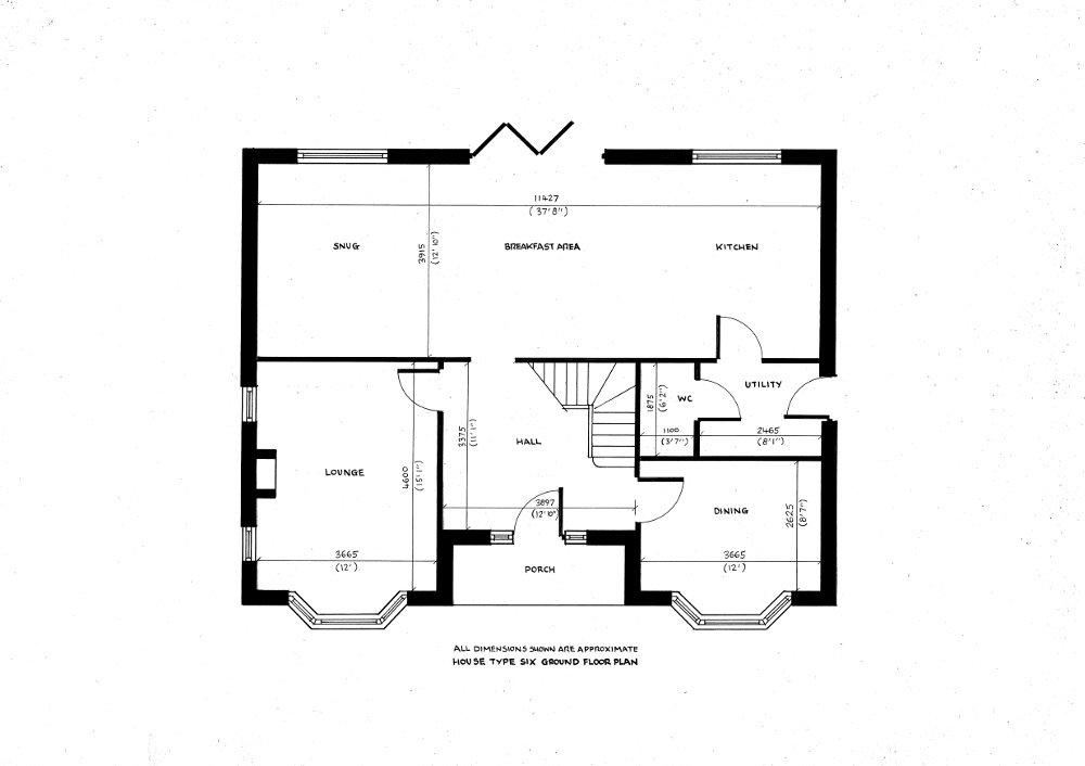 House type Six. Ground floor plan._31102019