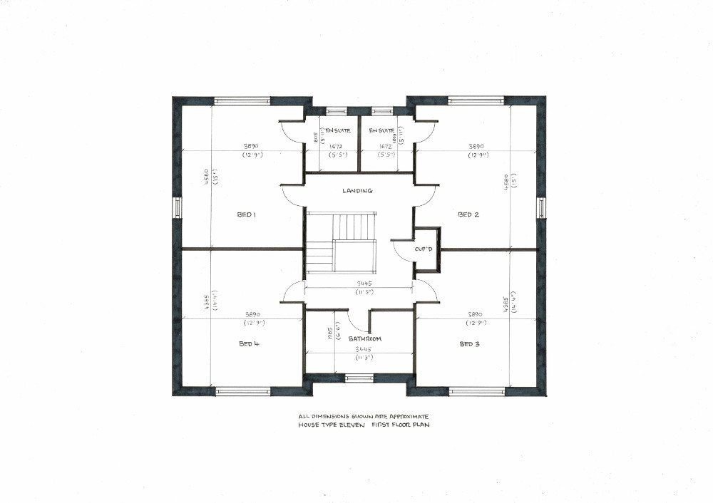 House type eleven. First floor plan._000004