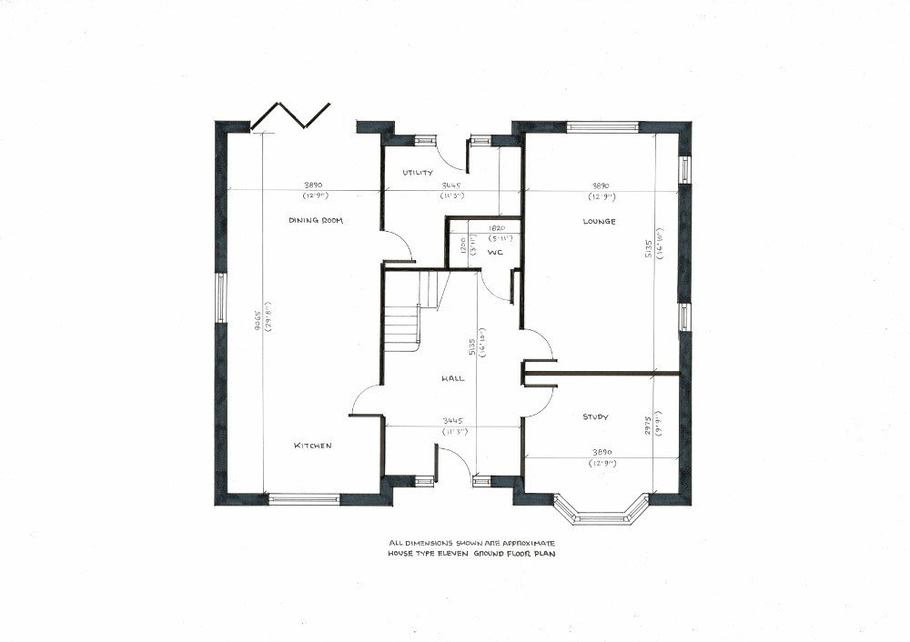 House type eleven. Ground floor plan._000001