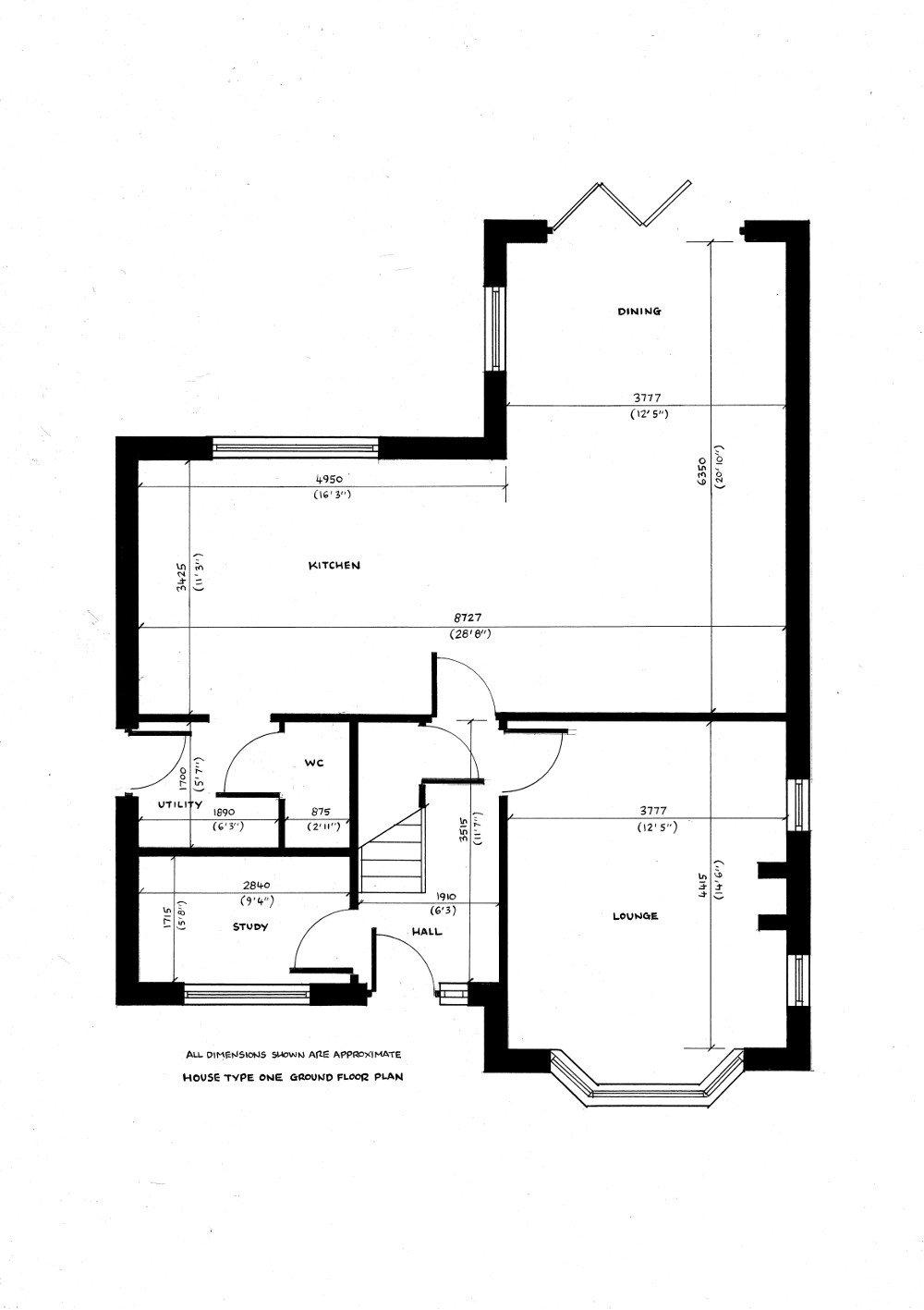 House type one. Ground floor plan._11072019