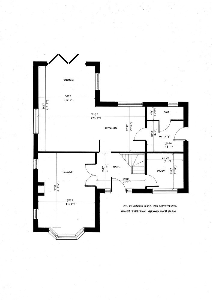 House type two. Ground floor plan._19082019